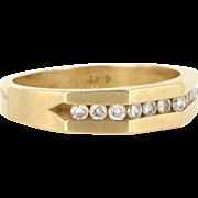Vintage 14 Karat Yellow Gold Diamond Wedding Stack Band Ring Fine Jewelry