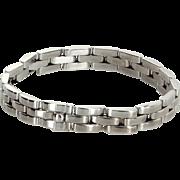 Cartier Maillon Panthere 18 Karat White Gold Bracelet Vintage Fine Designer Jewelry