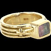 Loree Rodkin Watermelon Tourmaline 18 Karat Gold Ring Designer Cocktail Jewelry