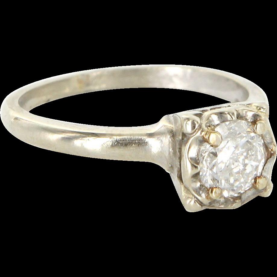 Old Fashion One Karat Diamond Ring