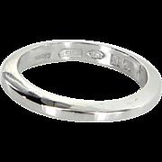 Bulgari 950 Platinum Band Ring Sz 6 1/2 Estate Fine Designer Jewelry Pre Owned