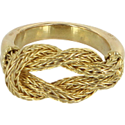 Ilias Lalaounis Hercules Knot Ring Vintage 18 Karat Yellow Gold Estate Greece Sz 6.5
