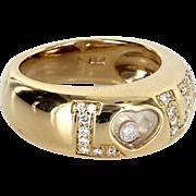 Chopard Happy Diamonds Love Ring Sz 5 18 Karat Yellow Gold Estate Signed Jewelry