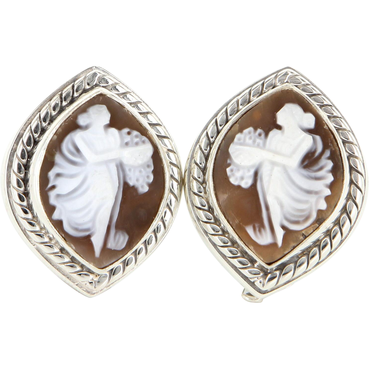 Estate Stephen Dweck 925 Sterling Silver Shell Cameo