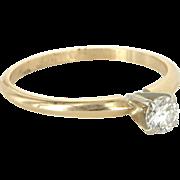 Diamond Stacking Ring Sz 6 Vintage 14 Karat Gold Estate Fine Jewelry Fine Vintage