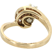 Vintage Diamond Enagegment Ring 14 Karat Yellow Gold Estate Fine Jewelry Estate