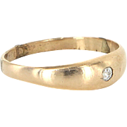 Vintage Art Deco Mine Diamond Child Baby Midi Ring 14 Karat Gold Pinky Estate
