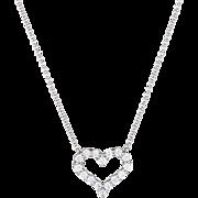 Tiffany & Co Diamond Heart Pendant Necklace Small 950 Platinum Signed Jewelry Fine