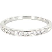 Tiffany & Co Half Diamond Wedding Band Ring Vintage Sz 7.5 950 Platinum Designer