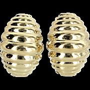 Shrimp Earrings Vintage 14 Karat Yellow Gold Estate Fine Jewelry Pre Owned