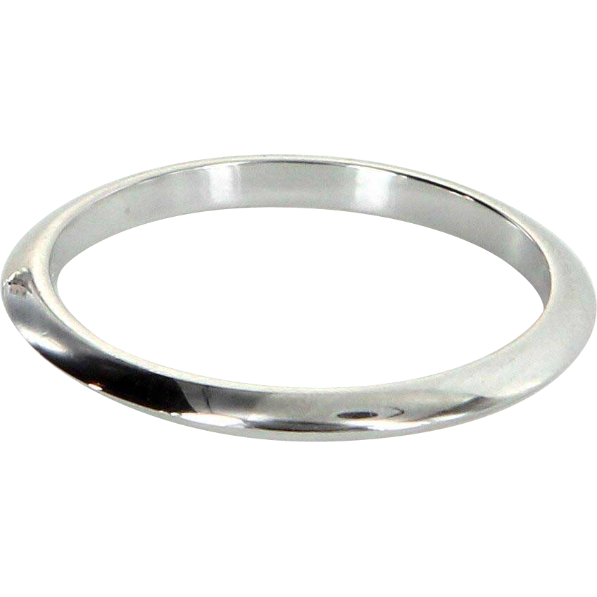 Tiffany & Co Sz 7 950 Platinum Wedding Band Ring Estate Signed Fine Jewelry