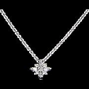 Kwiat Diamond Star Pendant Estate 18 Karat White Gold Designer Signed Jewelry