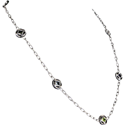 "Cartier Pasha Retired 18 Karat Gold 25"" Necklace Peridot Amethyst Fine Designer Jewelry"