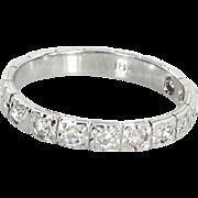 Vintage Art Deco Diamond Vintage 18 Karat Gold Embossed Flowers Wedding Band Ring Sz 5.5