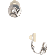Chanel Comete Diamond Rock Crystal Earrings Vintage 18 Karat White Gold Jewelry