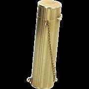 Lipstick Case Pendant Vintage 14 Karat Yellow Gold Estate Fine Jewelry Heirloom