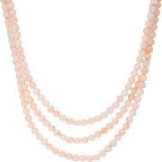 Triple Strand Angel Skin Coral Necklace Vintage 14 Karat Yellow Gold Estate Jewelry 3