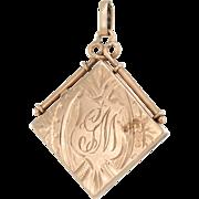 Vintage Art Deco 14 Karat Rose Gold Locket Pendant Estate Fine Jewelry Heirloom Opens