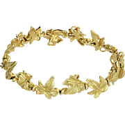 Tiffany & Co Leaf Bracelet Vintage 18 Karat Yellow Gold Estate Fine Designer Jewelry