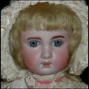 French - 1907 TETE JUMEAU - Blonde Hair & Blue Eyes - Original Body w/ Oval Jumeau Sticker - Pretty Clothes!!