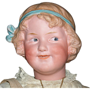 "GEBRUDER HEUBACH - COQUETTE - Large 17"" - Character Girl w/ Molded Hair & Molded Hair Bow!!"