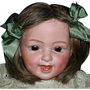 "GEBRUDER HEUBACH - 15"" Character Child - Glass Sleep Eyes & Dimples!! - Mold # 5636  Sunburst Mark - Germany"