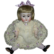 "GIANT 11"" - ALL BISQUE KESTNER w/ LAVENDER STOCKINGS!!! - Sleep Eyes - Pretty Embroidered Clothes - Perfect!!!"
