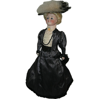 """GIBSON GIRL - J.D. KESTNER - 19"""" - Original Kid Jointed Body - 1910 - Pretty Clothes & Purse!! - #172"""