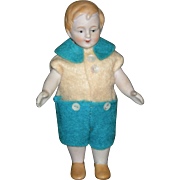 "ALL BISQUE - LITTLE BOY!! - Company For The Girls!! - 4 1/2"" Tall - Yellow Molded shoes - Blonde Molded Hair - Cute Clothes!!"