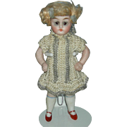"ALL BISQUE - 4 1/2"" - Big Brown Eyes - Original Knit Dress - Original Wig!!"