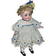 "ALL BISQUE - 6"" - Blue Sleep Eyes - Original Wig - Cute Clothes!! - Germany!!"