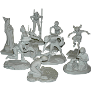 NORMAN ROCKWELL - JOYS OF CHILDHOOD - Nine (9) - Bisque Figurines - Children Playing!! - 1976 to 1979 - Vintage!! - Made in Bavaria!!