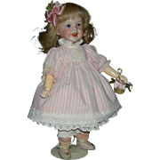 """FRENCH CHARACTER TODDLER - SFBJ 236 Paris 2 - Tiny 12"""" Size!! - Blue Sleep Eyes - French Human Hair Wig - So Cute!!"""