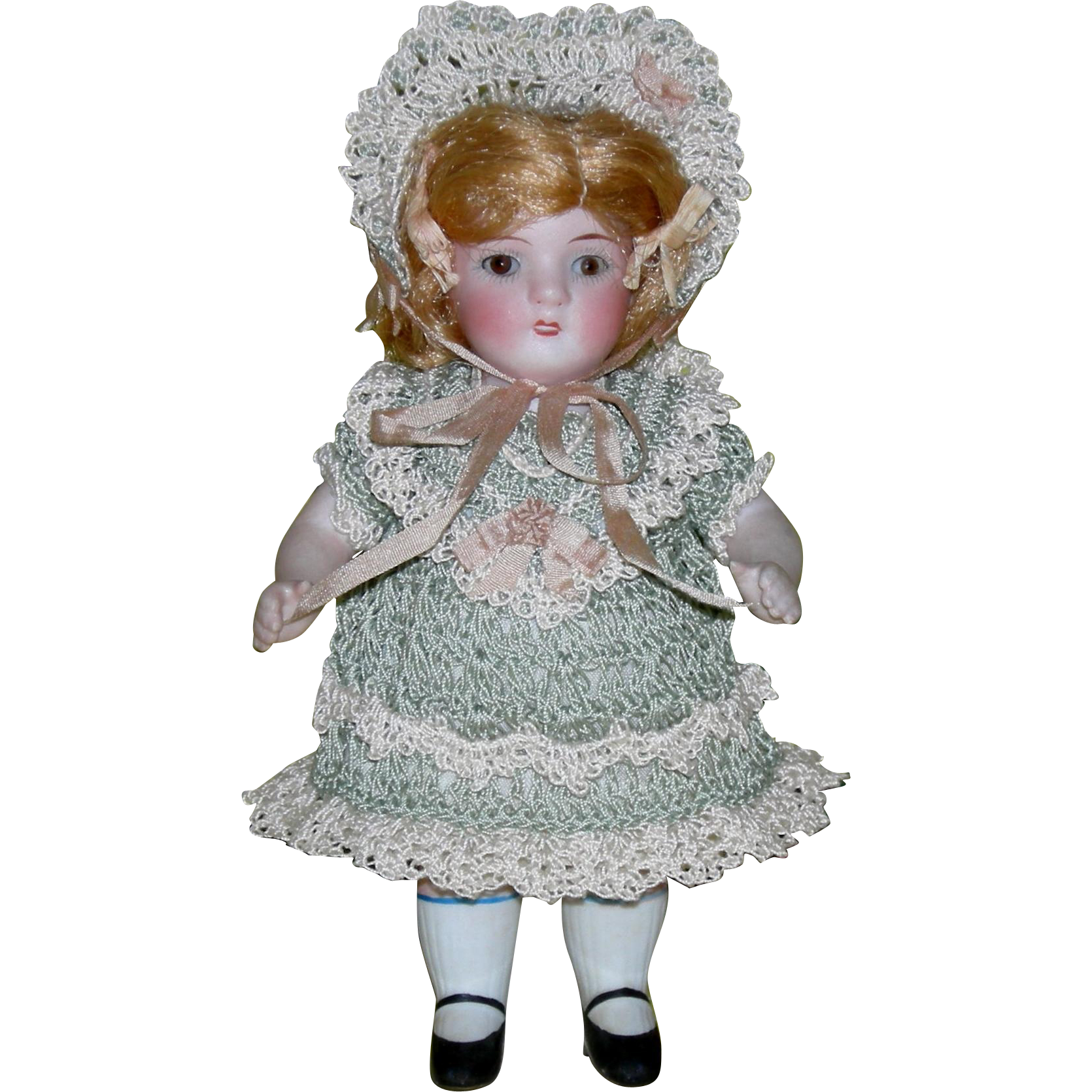 "ALT BECK & GOTTSCHALCK - 6"" - ALL BISQUE - Sleep Eyes - Mold 83 100 N. - Matching Numbered Parts on Arms & Legs!!!"