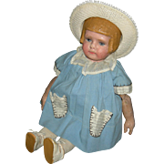 """MARTHA CHASE - Girl w/ Bobbed Hairdo - Early Stamped Cloth Body w/ Extra Joints - 16"""" - Cute Clothes!!"""