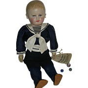 """MARTHA CHASE - SAILOR BOY w/ Marbles!! - 16"""" - Pretty Painting & Clothes!!!"""