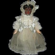 RARE!!! - THREE (3) Color - Multi Face Doll - Black, Mulatto, White - Pull String Body - Carl Bergner - Pretty Dress!!