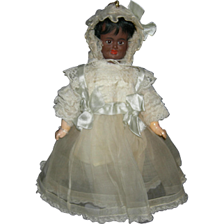 RARE!!! - THREE (3) Color - Multi Face Doll - Black, Mulatto, White - Pull String Body - Carl Bergner - Pretty Dress!!