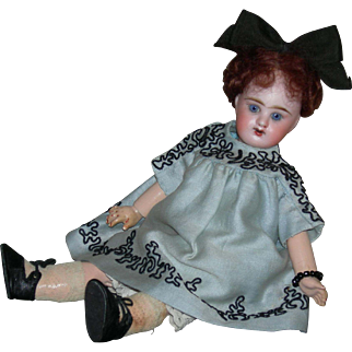 "French - A.B. BOUCHET 2 - Rare 10"" Doll - Blue Eyes & Cute Clothes!!"