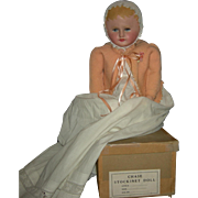 """MARTHA CHASE WEIGHTED BABY w/ BOX - 21"""" - Completely Painted Body w/ Original Finish - Beautiful!!"""