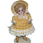 "4"" MIGNONETTE - Glass Eyes & Swivel Neck - Yellow Boots!! - All Bisque!!"