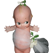 "KEWPIE BRIDE - 5 1/2"" - All Bisque - Signed: Rose O'Neill - Made in Germany!!"