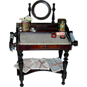 FRENCH TOILETTE TABLE Or Dresser w/ Mirror - Tilt Mirror - Pull Out Drawer - Bottom Shelf - Accessories!!