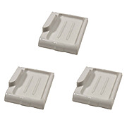 Three Matching Antique Wall-Mount Porcelain Bar Soap Holders