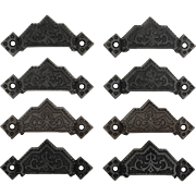 Antique Eastlake Bin Pulls, Late 19th Century