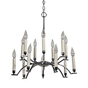 Streamlined Vintage Chrome Chandelier