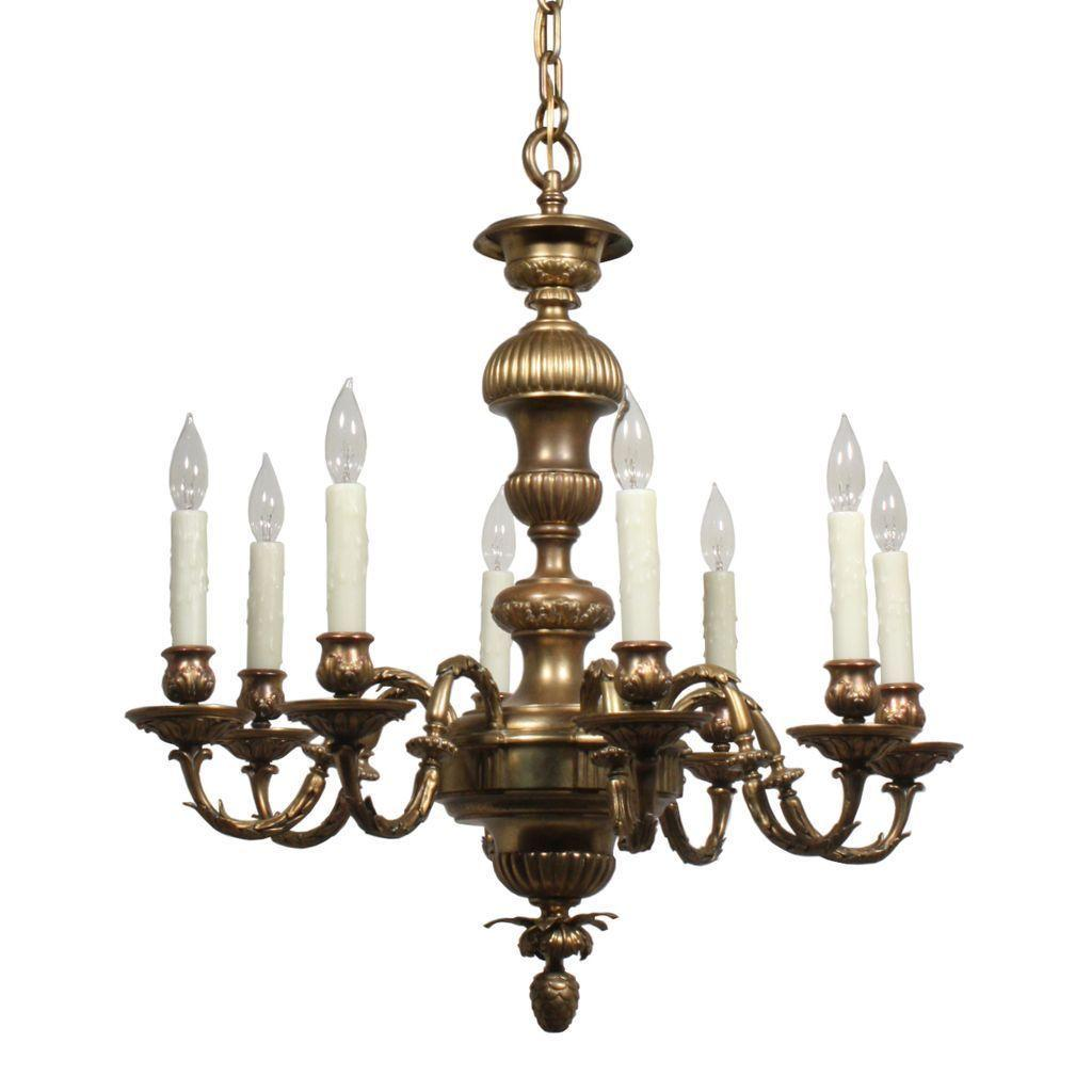 Incredible E.F. Caldwell Antique Cast Bronze Chandelier