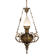 Incredible Antique Cast Bronze Chandelier, Late 19th Century