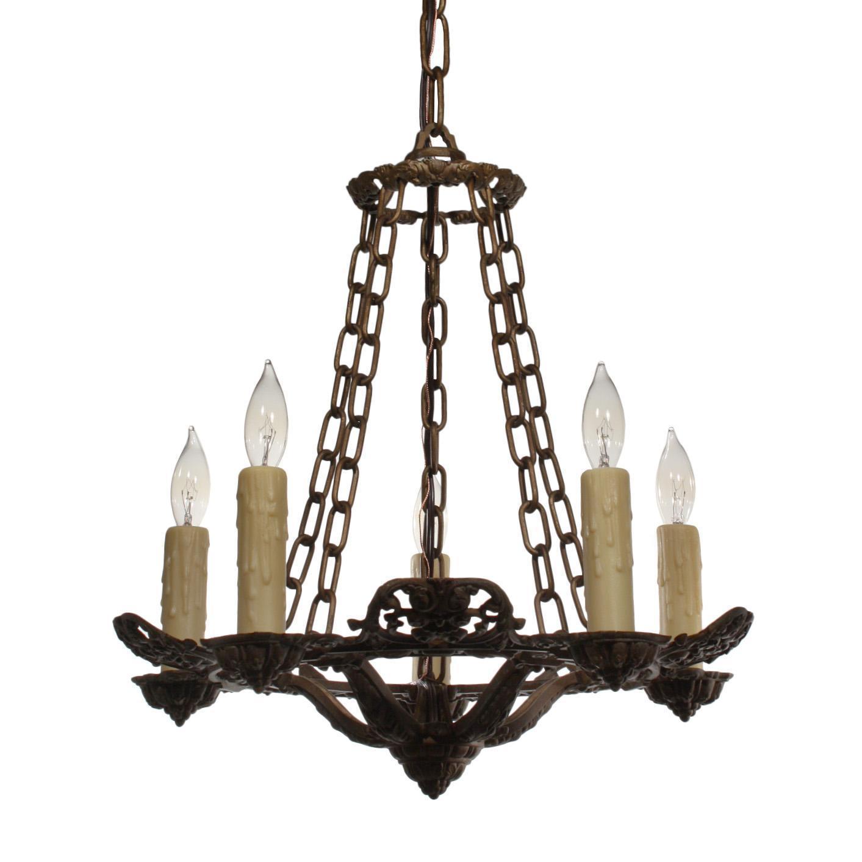 Marvelous Antique Five-Light Chandelier, Riddle Co.