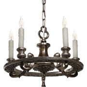Stunning Antique Silver Plate Chandelier, Early 1900s